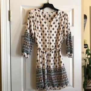 Tunic belted dress